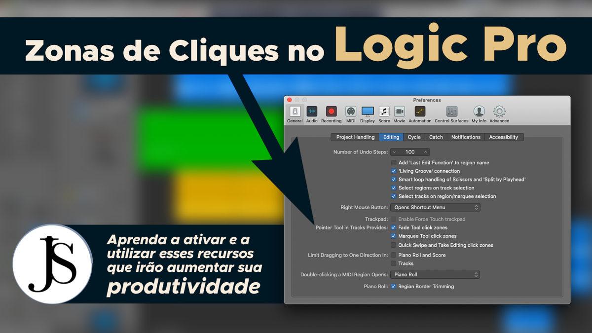 Zonas de Cliques no Logic Pro