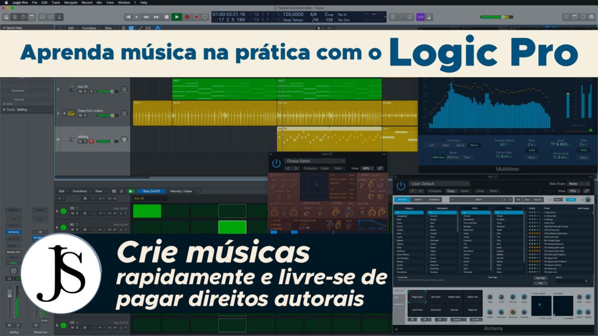 Aprenda música na prática com o Logic Pro