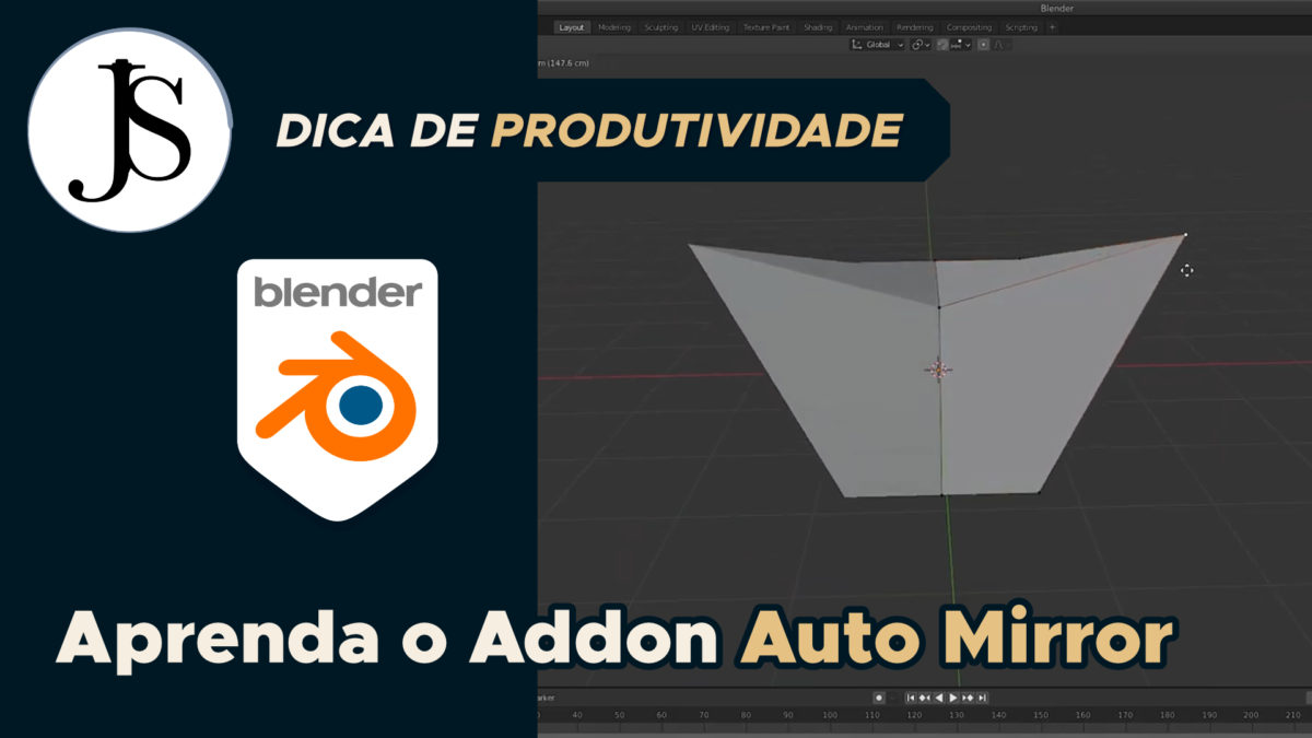 Aprenda o Addon Auto Mirror do Blender