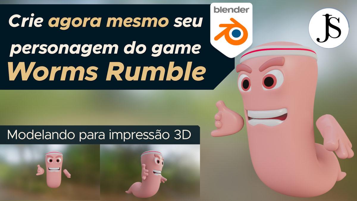 Crie agora mesmo seu personagem do Worms Rumble